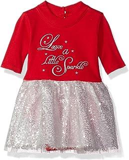 Bonnie Baby Baby Girls Appliqued Knit Tutu One-Piece Dress