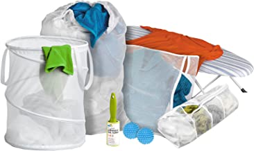 Honey-Can-Do LDY-01427 Deluxe Laundry Kit with Guide, 8-Pieces, White