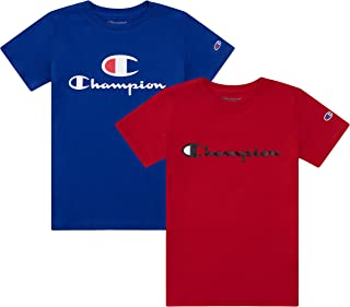 Champion Heritage Boys 2 Pack Logo Tee Shirt Top Sets Kids Clothes