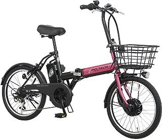 PELTECH(ペルテック) 折り畳み電動アシスト自転車 20インチ折り畳み外装6段変速 【簡易組立必要品】(TDN-208)