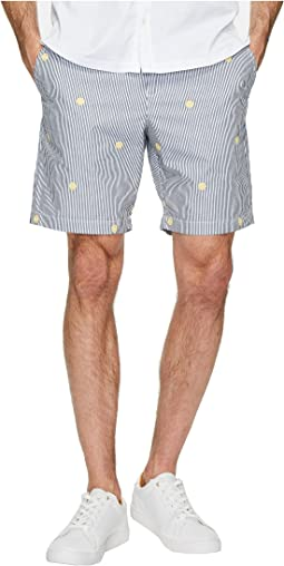 Original Penguin - Vertical Yarn-Dye Stripe Shorts w/ Embroidery