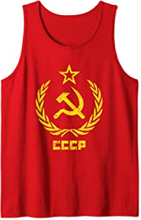 Hammer And Sickle T-Shirt Communist Russia CCCP Red Tank Top