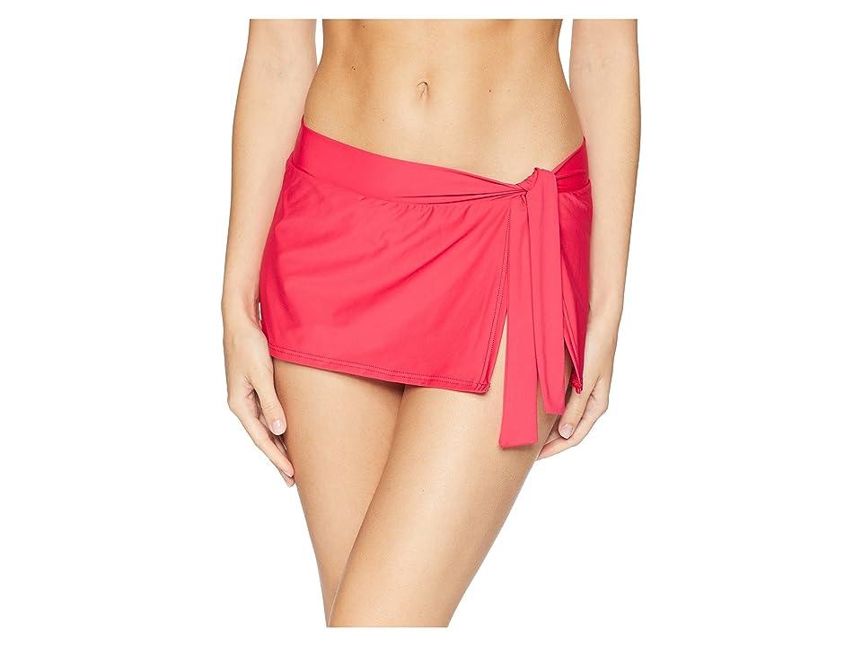 Tommy Bahama Pearl Skirted Hipster Bikini Bottom (Cerise) Women