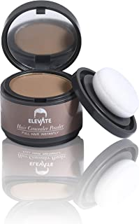 ELEVATE Hair Line Powder Instantly Conceal Hair Loss for Thinning Areas - Shadow Makeup - Root Cover Touch Up with Puff Touch - Instant Gray Coverage for Men and Women (Light Brown)