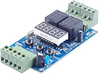 KNACRO DC 24V 2-way programmable relay board/2-way voltage detection control/trigger/cycle timer turns off (DC 24V)