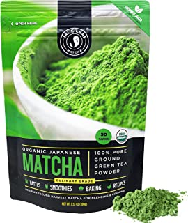 Jade Leaf Organic Matcha Green Tea Powder - Authentic Japanese Origin (3.53 Ounce)