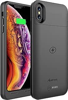 互換性のあるQiワイヤレス充電付きiPhone Xsマックスバッテリーケース、Alpatronix BXXマックス6.5インチ5000mAh iPhone Xsマックスジュースバンク電源ケース用保護保護充電式拡張充電器