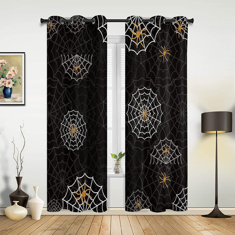 Window Max 60% OFF Sheer Curtains for Bedroom Living Halloween Sc Room Happy Washington Mall
