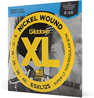 D'Addario ESXL125 - Juego de cuerdas de níquel.009 - .046 (extremo de bola)