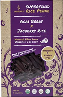 Jasberry Organic Rice Penne With Acai Berry, 227 gm
