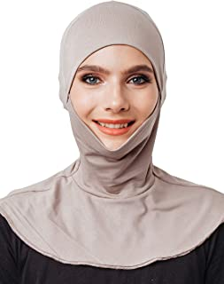 Mask Hijab, Cotton Under Scarf Tube Cap,Closure of The Chin, Ready to wear Muslim Accessories for Women