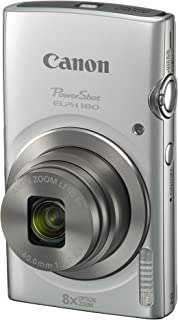 Canon PowerShot ELPH 180 Digital Camera w/ Image Stabilization and Smart AUTO Mode (Silver), 0.90in. x 3.70in. x 2.10in. -...