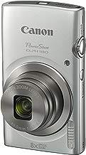 Cámara digital Canon PowerShot ELPH 1801093C00120.0Mp, 8x zoom óptico 2.7 base de visualización (plata)