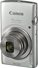 Canon PowerShot ELPH 180 Digital Camera w/Image Stabilization and Smart AUTO Mode (Silver), 0.90in. x 3.70in. x 2.10in. - 1093C001
