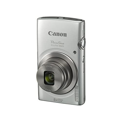 Canon PowerShot ELPH 180 Digital Camera w/Image Stabilization and Smart AUTO Mode (Silver)