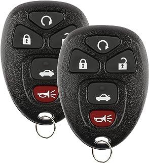 2x KeylessOption Remote Key Fob for GM (15913415, 25839476, OUC60270)