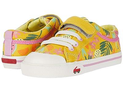 See Kai Run Kids Kristin (Toddler/Little Kid) (Yellow Tropical) Girls Shoes