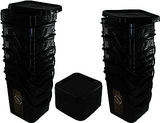 black square buckets