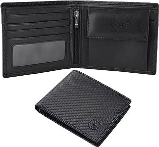 Awinnal® Portefeuille Homme Fin en Cuir Véritable Porte-Monnaie avec RFID/NFC Blocage 8 Porte Carte Crédit, 2 Compartiment...