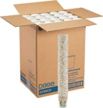 Dixie PerfecTouch, 5338CD, Coffee Haze, 8 oz. Insulated Paper Hot Cup by GP PRO (Georgia-Pacific) (Case of 20 Sleeves, 50 Cups Per Sleeve)