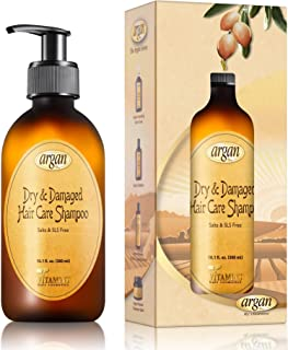 Argan Shampoo for Dry Damaged Hair - Exclusive Herbal Oils Blend - Cleanses Repairs Nourishes Softens & Promotes Hair S...