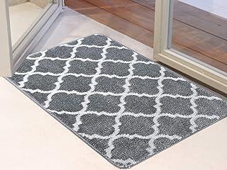 Famibay Indoor Door Mat Non Slip Doormat Machine Washable Entrance Rug Low-Profile Absorbent Resist Dirt Trapper Door Mat ...
