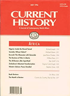 Current History: A Journal of Contemporary World Affairs, May 1996, Vol. 95, No. 601: Africa