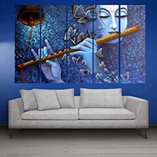 KYARA ARTS Wood Framed Painting Multicolor wall painting with frame 50 x 30 inch