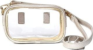 Clarity Handbags Clear Stadium Approved Purse - Fallon - Transparent Vinyl Crossbody or Belt Bag For Women