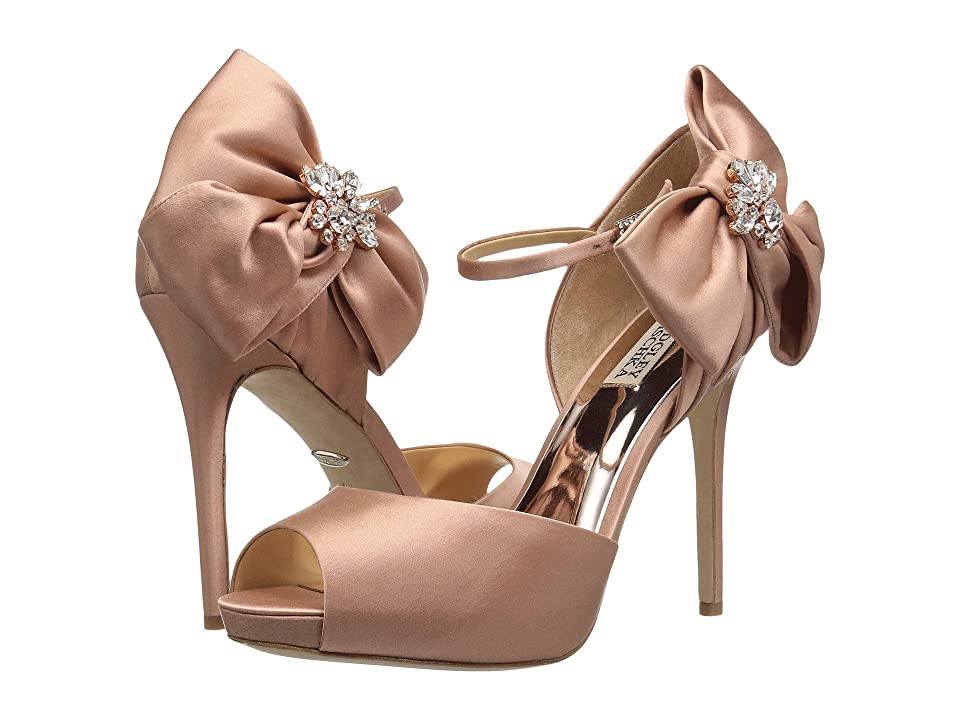 Badgley Mischka Samra (Dark Pink Satin) High Heels