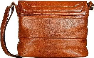 Duhita Leather Sling Bag Cross Body Bag Travel Bag for Women Girls (Champagne)