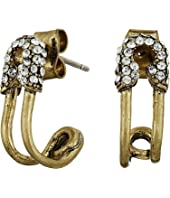 Marc Jacobs Safety Pin Strass Ear Hoop Earrings
