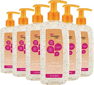 Mountain Falls A.M. Refresh Facial Cleanser with Vitamin C & Ginseng, 8 Fluid Ounce (Pack of 6)