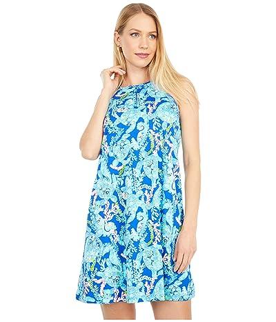 Lilly Pulitzer Margot Dress (Corsica Blue Turtle Villa) Women