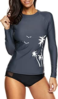 Attraco Women Rash Guard Long Sleeve Swimming Suit UPF50+ Vest Swim Top UV Swimwear