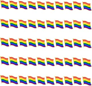 TANG SONG 50PCS Pride Pin Rainbow Gay Pride Flag LGBT Enamel Lapel Pin Pin Decoration for Clothes and Bags