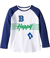 Stella McCartney Kids - Max 'B Happy' Raglan Mesh T-Shirt (Toddler/Little Kids/Big Kids)