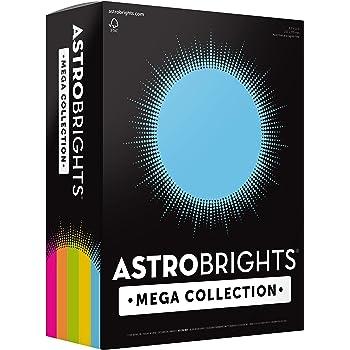 "Astrobrights Mega Collection, Colored Cardstock,""Brilliant"" 5-Color Assortment, 320 Sheets, 65 lb/176 gsm, 8.5"" x 11"" - MORE SHEETS! (91687), Assorted"