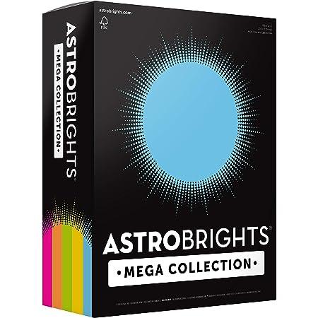 "Astrobrights Mega Collection, Colored Paper, ""Brilliant"" 5-Color Assortment, 625 Sheets, 24 lb/89 gsm, 8.5"" x 11 - MORE SHEETS! (91684)"