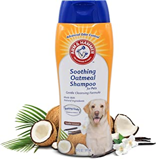 Arm & Hammer Oatmeal Shampoo for Dogs | Best Oatmeal Shampoo for All Dogs and Puppies, 16 ounces, Vanilla Coconut Scent