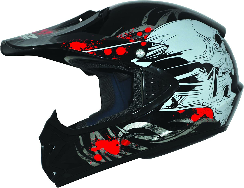 Ato Moto Kids Pro Kinder Crosshelm Schwarz Größe S 55 56cm Kinderhelm Kinder Cross Bmx Mx Enduro Helm Auto