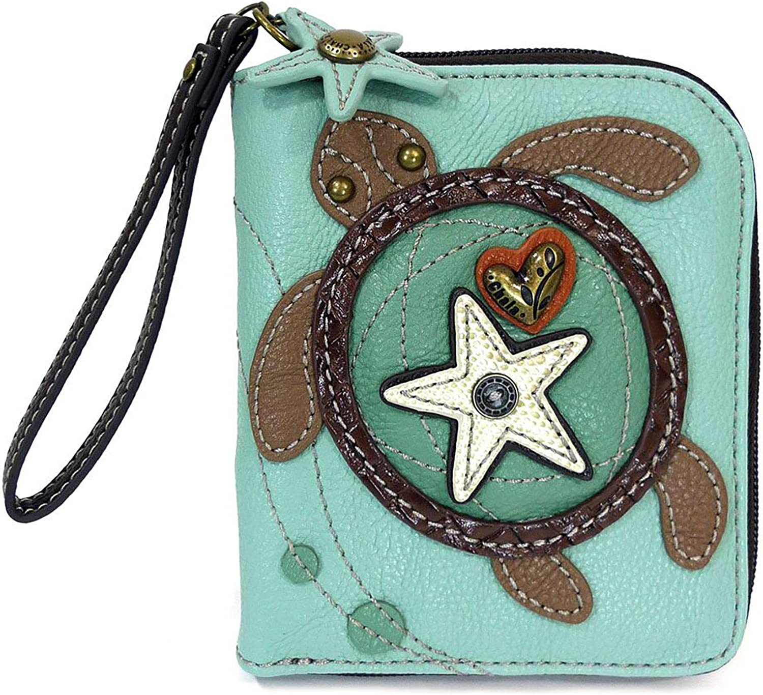 CHALA Zip Around Ranking TOP13 Wallet Wristlet 8 Card Slots Credit P Our shop OFFers the best service Sturdy