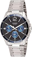 Casio Men's Black Dial Stainless Steel Analog Watch - MTP-1374D-2AVDF