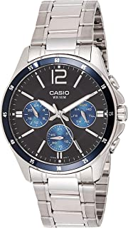 Casio Men's Quartz Watch with Black Dial  and Stainless Steel Strap , MTP-1374D-2AV