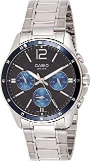 Casio Watch For Men Quartz with Black Dial Analogue Display Quartz Stainless Steel MTP 1374D 2A