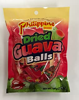 Philippine Brand Dried Guava Balls, 3.53 Ounce (Pack of 60)