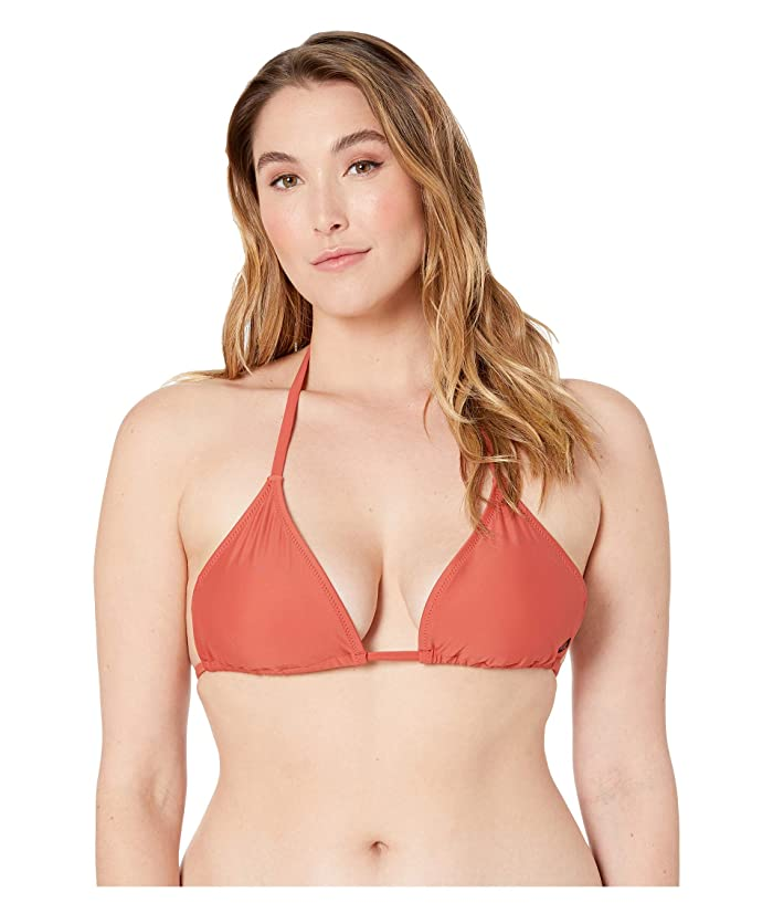 Volcom Plus Size Simply Solid Triangle (Burnt Red) Women