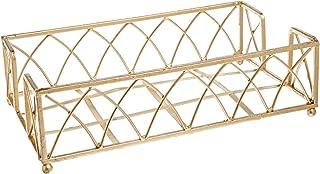Boston International BID98 Arch Design Guest Towel Napkin Holder Caddy, 9 x 5.25-Inches, Gold Leaf