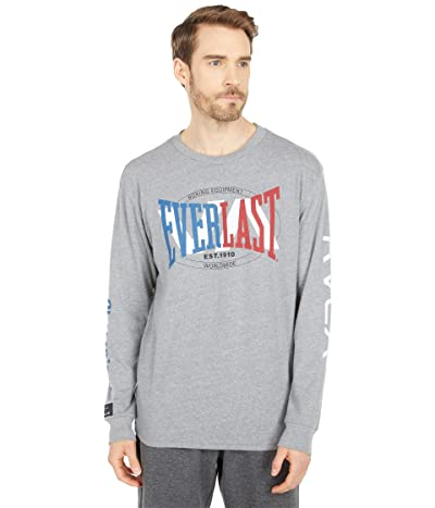 RVCA Everlast Stack Patch Long Sleeve Tee (Athletic Heather) Men