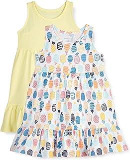 Amazon Essentials Vestido de algodón Escalonado Niñas